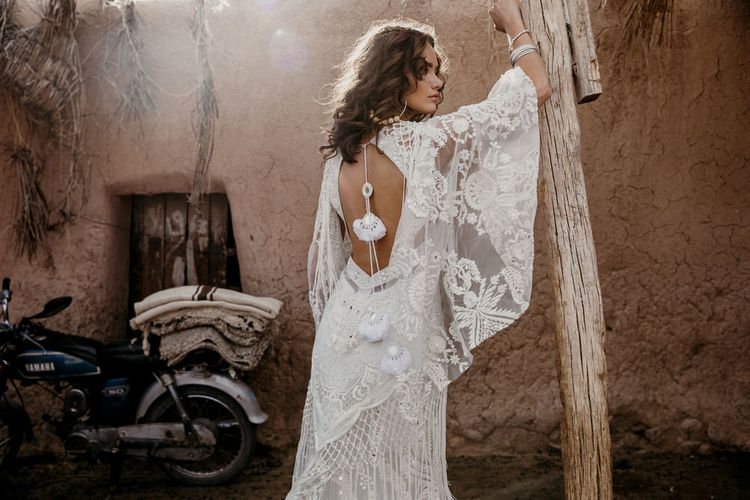 Medina Gown By Rue De Seine // The Wild Heart Collection From Rue De Seine // Stylish Bohemian Bridal Wear From Rue De Seine // Images By Madly Studio