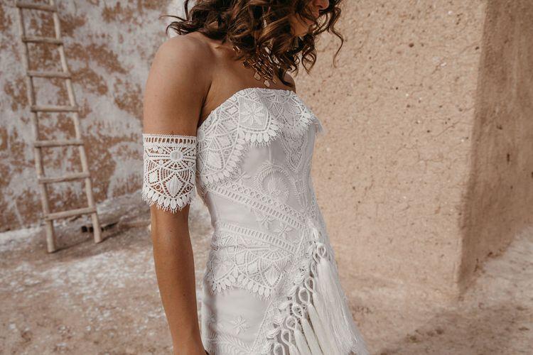 Halia Dress By Rue De Seine // The Wild Heart Collection From Rue De Seine // Stylish Bohemian Bridal Wear From Rue De Seine // Images By Madly Studio