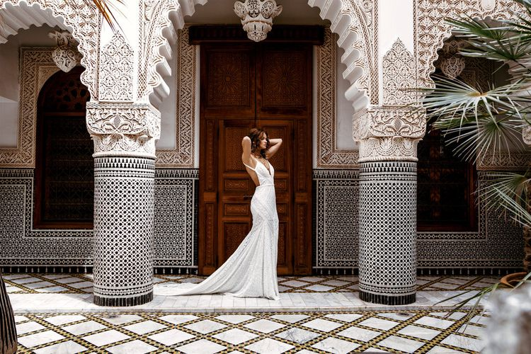 Tulum Dress By Rue De Seine // The Wild Heart Collection From Rue De Seine // Stylish Bohemian Bridal Wear From Rue De Seine // Images By Madly Studio