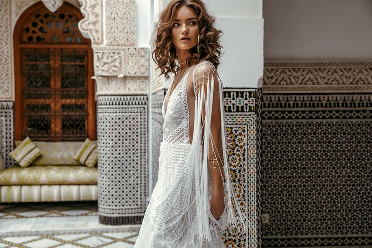 West Dress By Rue De Seine // The Wild Heart Collection From Rue De Seine // Stylish Bohemian Bridal Wear From Rue De Seine // Images By Madly Studio