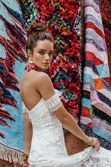 Clara Dress By Rue De Seine // The Wild Heart Collection From Rue De Seine // Stylish Bohemian Bridal Wear From Rue De Seine // Images By Madly Studio