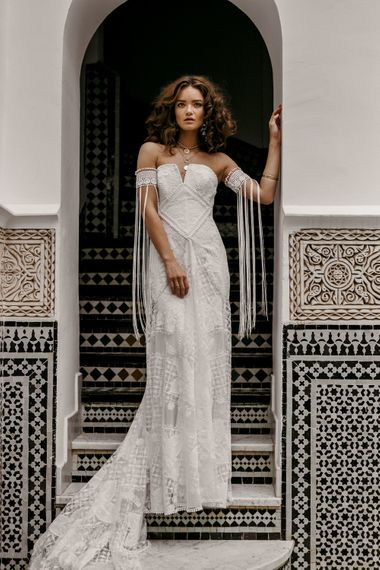 Farah Dress By Rue De Seine // The Wild Heart Collection From Rue De Seine // Stylish Bohemian Bridal Wear From Rue De Seine // Images By Madly Studio