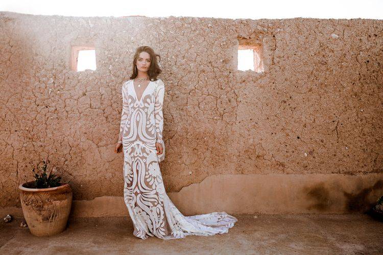 Layla Dress By Rue De Seine // The Wild Heart Collection From Rue De Seine // Stylish Bohemian Bridal Wear From Rue De Seine // Images By Madly Studio