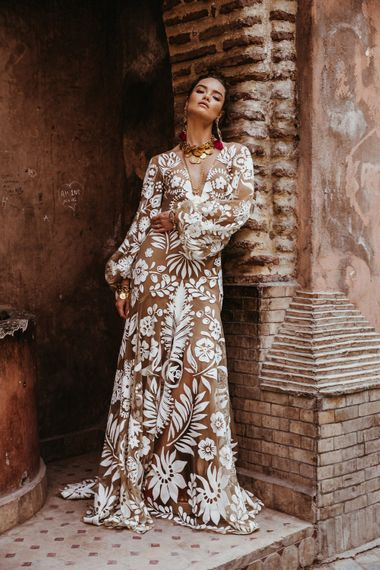 Vita Dress By Rue De Seine // The Wild Heart Collection From Rue De Seine // Stylish Bohemian Bridal Wear From Rue De Seine // Images By Madly Studio
