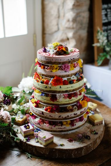 Dairy free, gluten free and refined sugar free cake - rustic wedding cakes