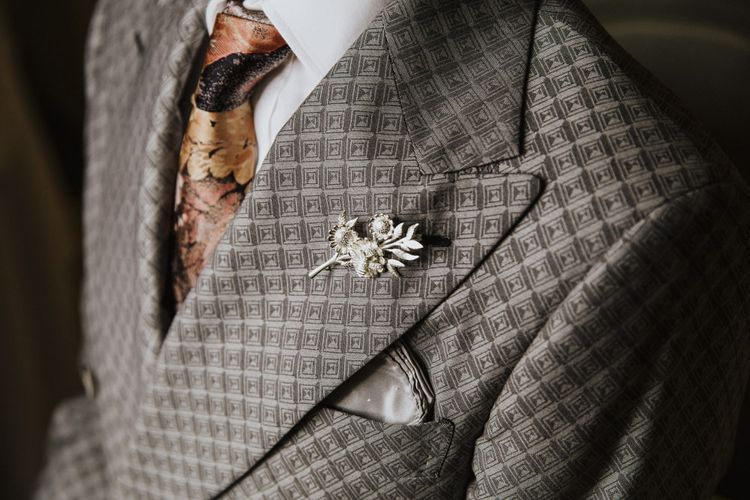 Grey groom suit