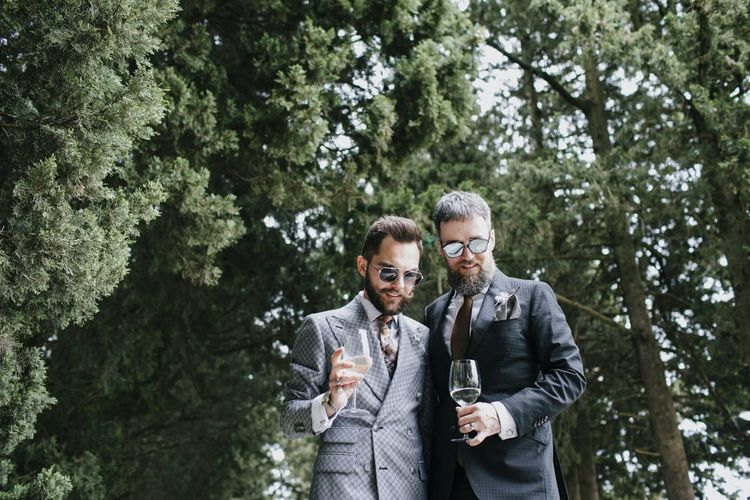 Grey grooms suit for Italian wedding