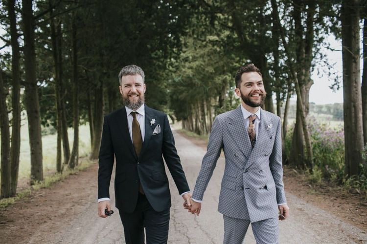 Grey groom suit for Italian wedding