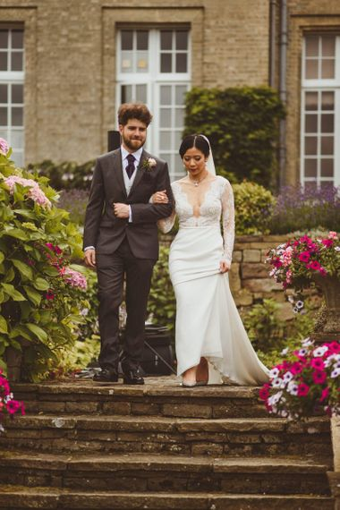 Bride and groom just married at Hedsor House