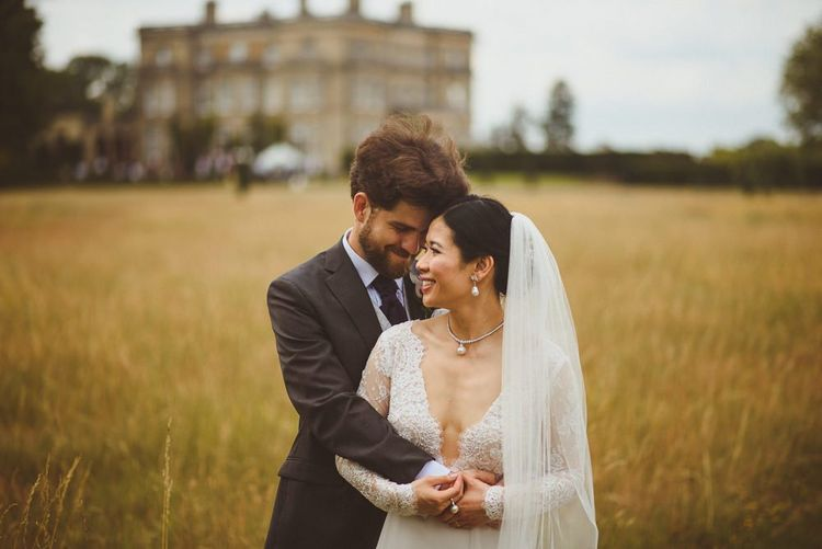 Bride and groom portrait at Hedsor House by Matt Penberthy