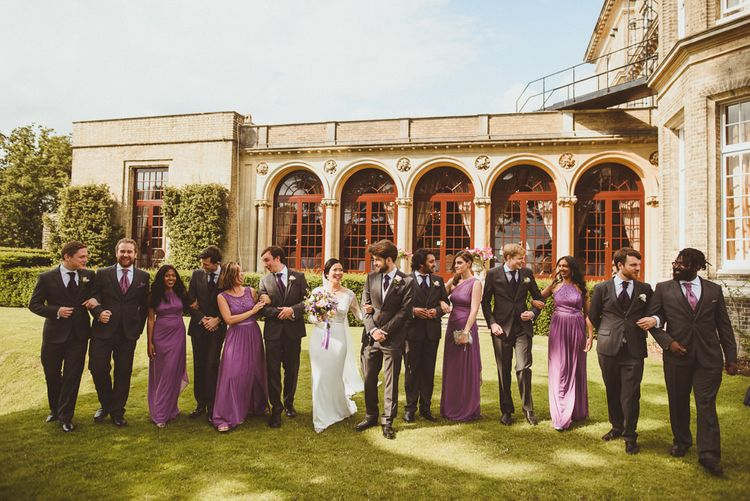 Wedding party portrait at Hedsor House by Matt Penberthy