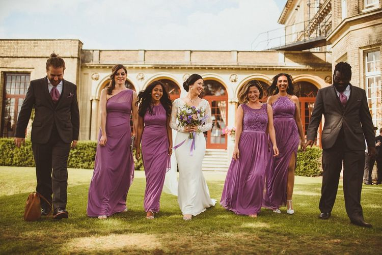 Bridal party portrait at Hedsor House by Matt Penberthy