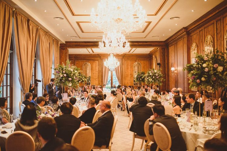 Wedding breakfast dining room at Hedor House