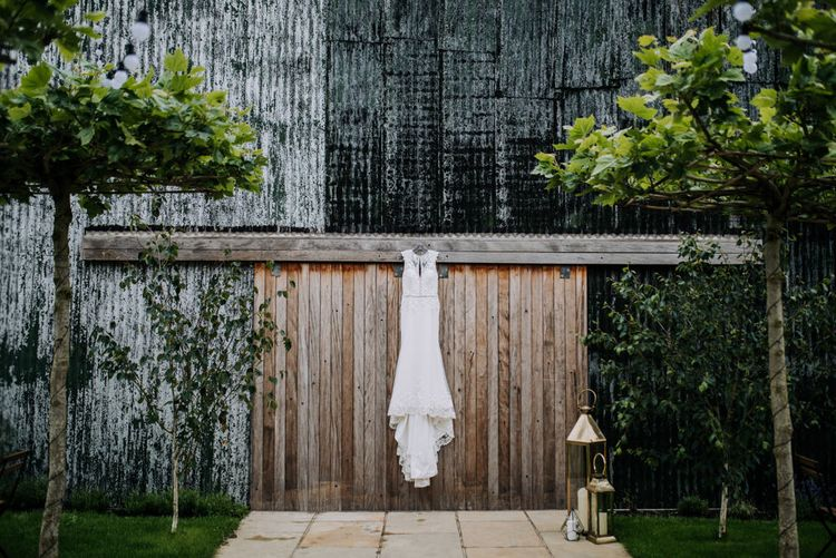 Hanging Lace Ronald Joyce Wedding Dress