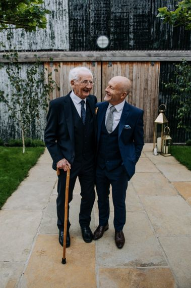 Father of the Groom and Grandad in Navy Suits