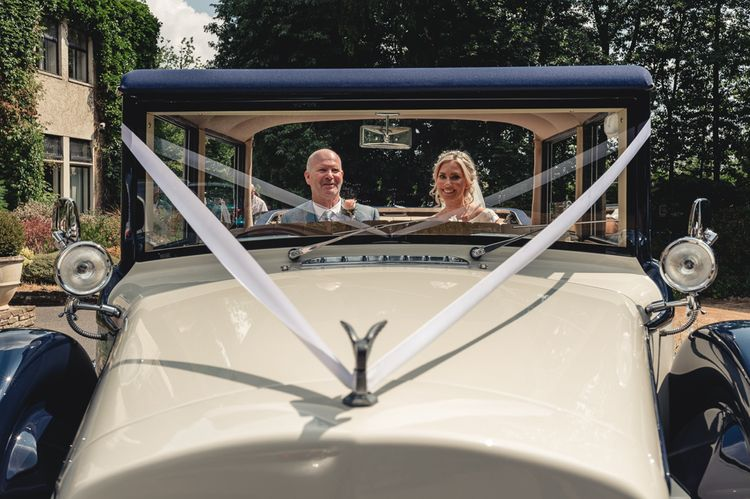 Vintage Car For Wedding // Image By Peter Hughes Photography