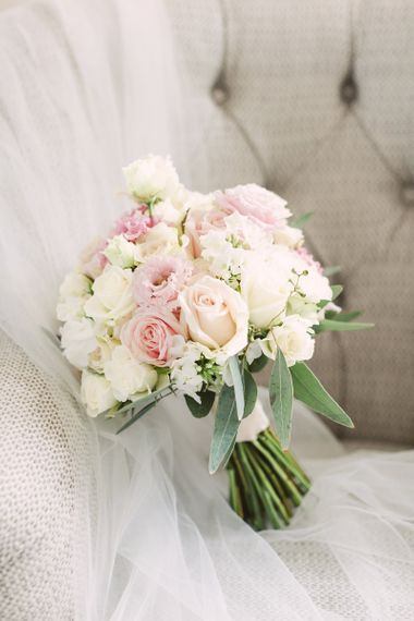 Delicate Pink and White Wedding Bouquet