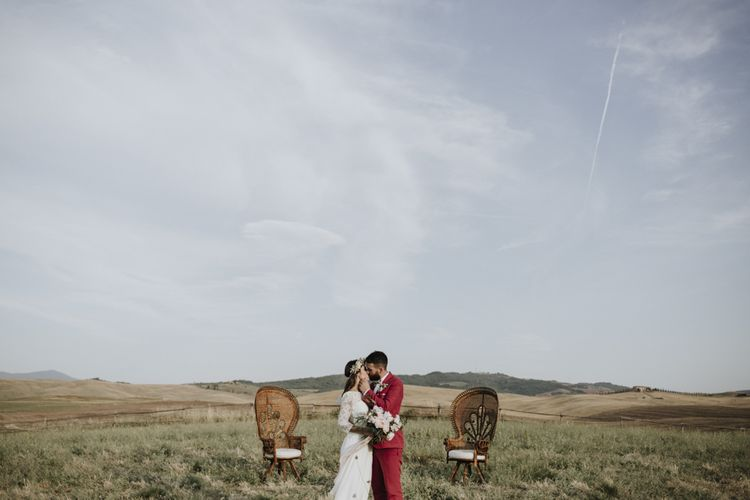 Destination wedding with Laure de Sagazan wedding dress