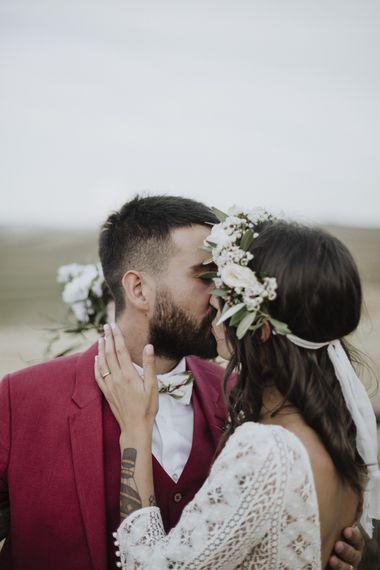Flower crown for Italian wedding