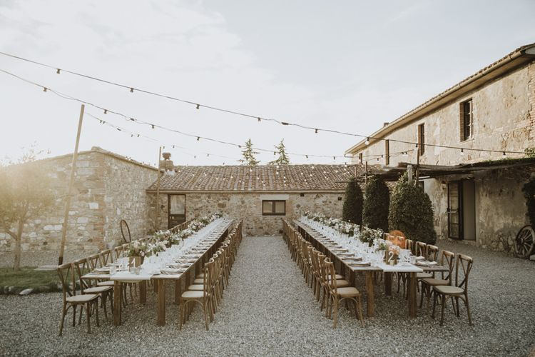 Wedding tables for outdoor wedding