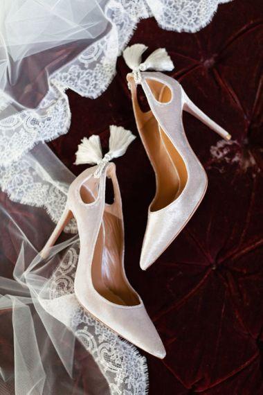 Aquazzura Wedding Shoes with Tassel Backs