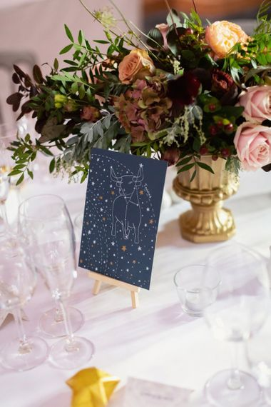 Taurus Astrology Table Name Sign by Laura Henderson Wedding Stationery