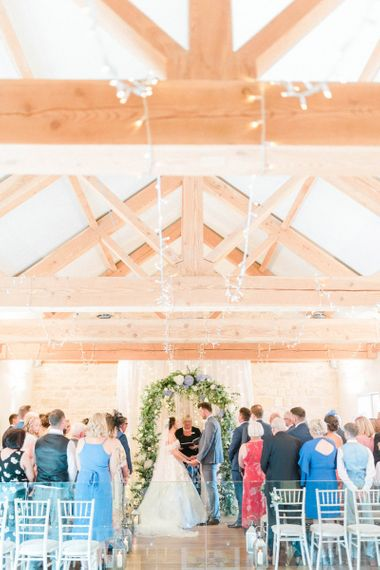 Rustic Barn Wedding Ceremony at The Priory Barns and Cottages