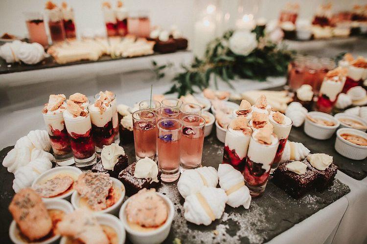 Dessert Platter | Blush, Rustic Luxe Wedding at Ever After, Dartmoor | Dan Ward Photography | CupcakeVideos