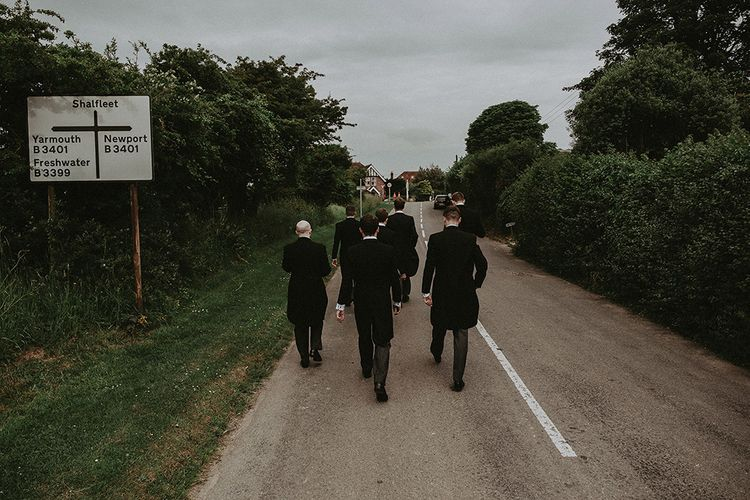 Groomsmen in Henry Herbert Tailors Suits | English Country Garden Marquee Wedding at the Family Home on the Isle of Wight | Jason Mark Harris Photography