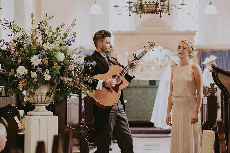 Church Wedding Ceremony | Readings | Processional Music | English Country Garden Marquee Wedding at the Family Home on the Isle of Wight | Jason Mark Harris Photography