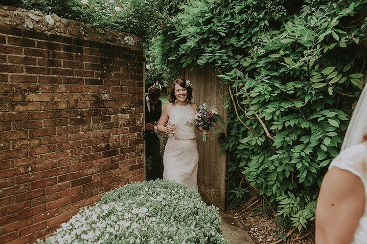 Bridesmaid in Pink Monsoon Dress | English Country Garden Marquee Wedding at the Family Home on the Isle of Wight | Jason Mark Harris Photography