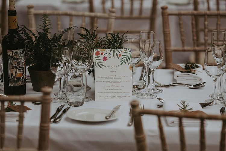 Floral Wedding Stationery | English Country Garden Marquee Wedding at the Family Home on the Isle of Wight | Jason Mark Harris Photography