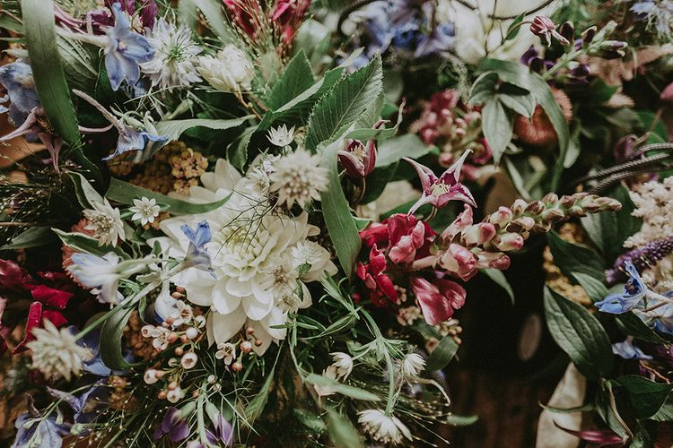 Wild Wedding Flowers | English Country Garden Marquee Wedding at the Family Home on the Isle of Wight | Jason Mark Harris Photography