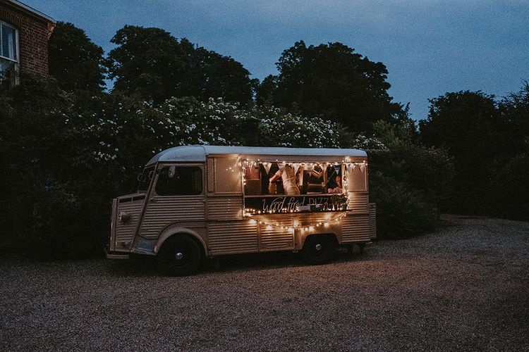 Woodfire Pizza Van | English Country Garden Marquee Wedding at the Family Home on the Isle of Wight | Jason Mark Harris Photography