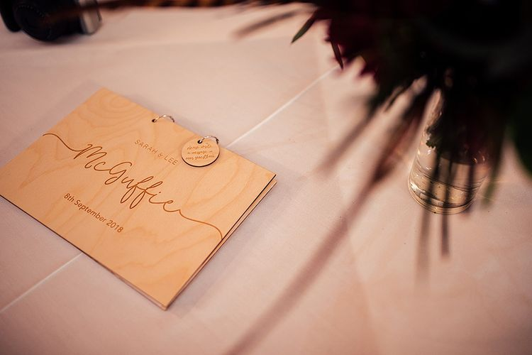 Engraved Wooden Plywood Guest Book