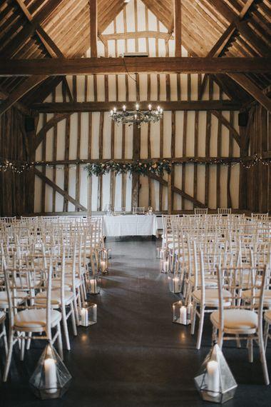 Ceremony Room | Intimate Wedding at The Olde Bell Pub, Berkshire | Revival Rooms Floral Design, Decor & Styling | Grace Elizabeth Photo & Film