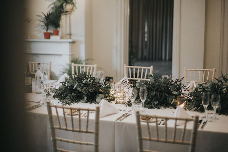 Table Decor | Intimate Wedding at The Olde Bell Pub, Berkshire | Revival Rooms Floral Design, Decor & Styling | Grace Elizabeth Photo & Film
