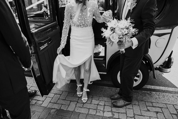 Waterside Wedding Venue London Winchester House Bride In Rime Arodaky & Groom In Reiss Images From Photography By Krishanthi