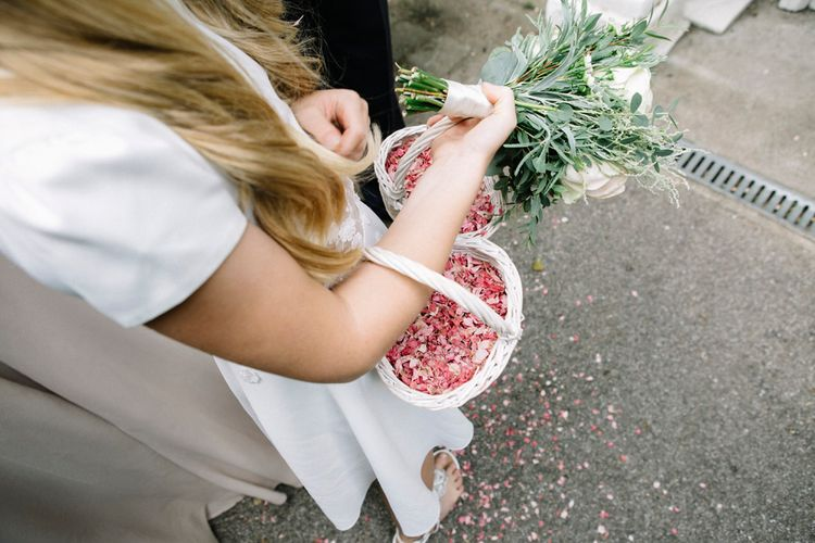 Dried Petal Confetti // Waterside Wedding Venue London Winchester House Bride In Rime Arodaky & Groom In Reiss Images From Photography By Krishanthi