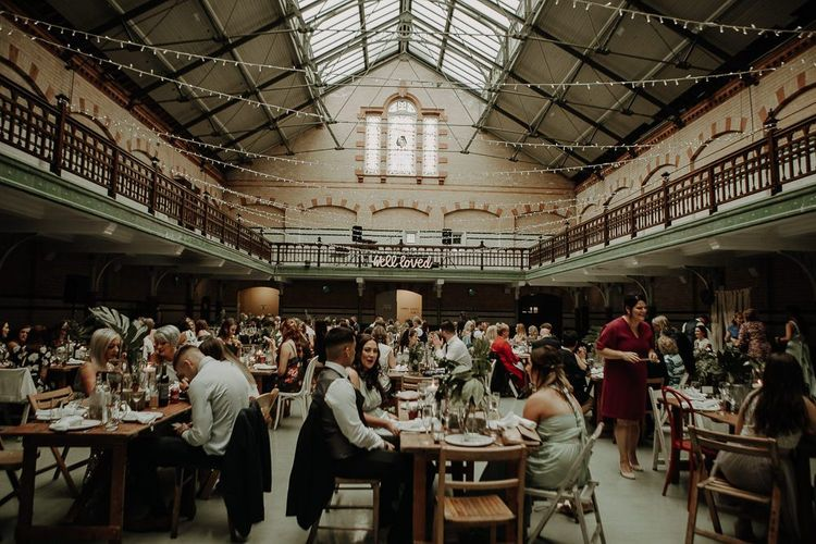 Relaxed wedding at Victoria Baths with DIY decor and botanical styling
