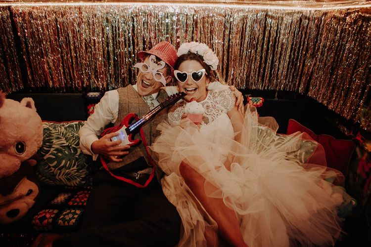 Photobooth fun at wedding reception in Manchester