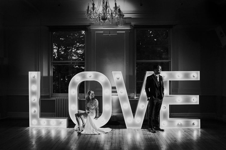 LOVE Letters For Wedding // Waterside Wedding Venue London Winchester House Bride In Rime Arodaky & Groom In Reiss Images From Photography By Krishanthi