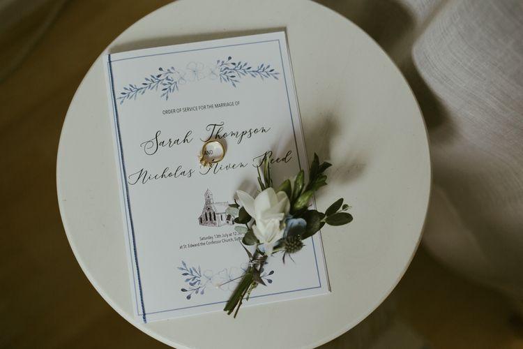 Wedding stationery for Ramster Hall wedding