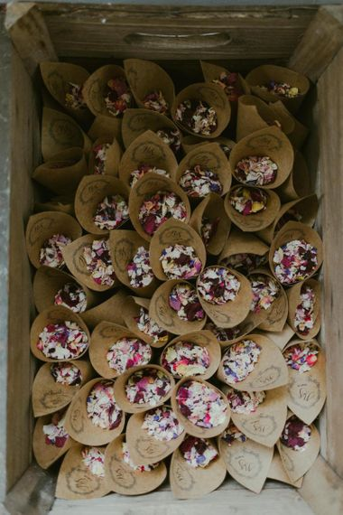 Wedding confetti for Ramster Hall wedding