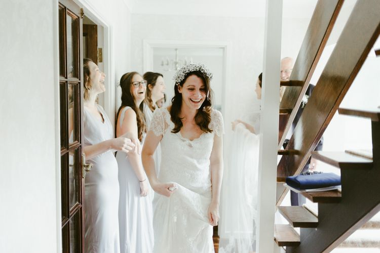 Bridal preparations for Ramster Hall wedding