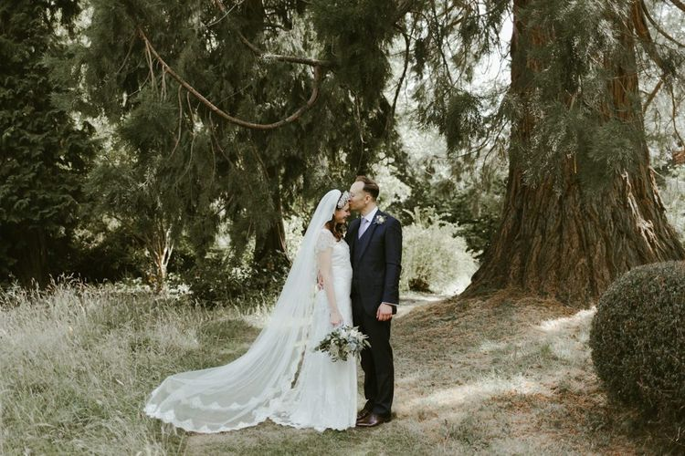 Bride and groom at Ramster Hall wedding