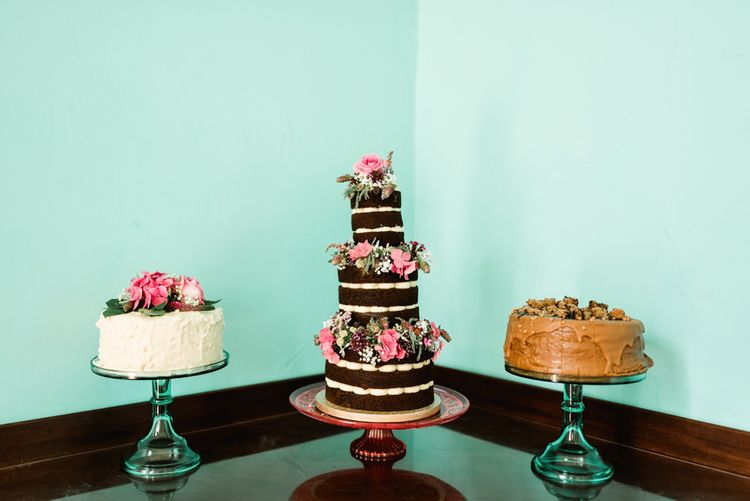Rustic Wedding Cakes // Walcot Hall Wedding Shropshire With Bride In Sequinned Karen Willis Holmes And Groom In Checked Tweed Suit By Charles Tyrwhitt Images The Lous