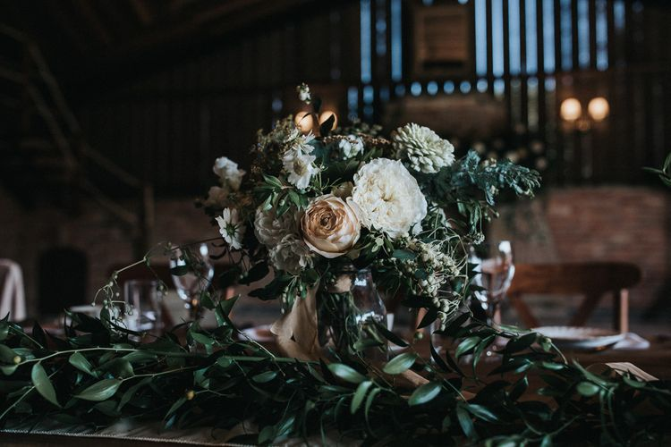 White, Green and Beige Wedding Flowers by Number Twenty Seven Floral Design