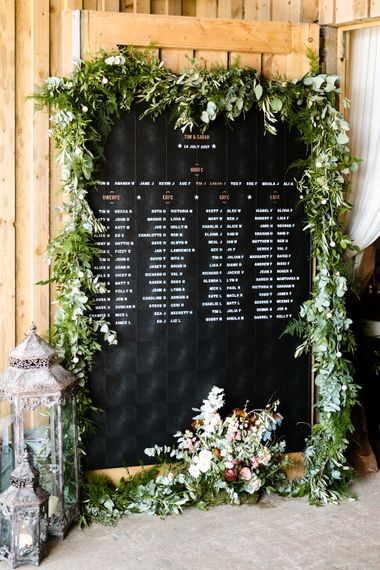 Peg Board Table Plan For Wedding // The Barn At South Milton Wedding With Outdoor Humanist Ceremony And Floral Arch By Flowers By Passion Images From John Barwood Photography