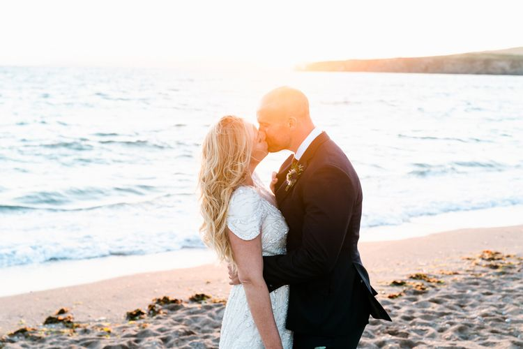 Coastal Wedding Portraits // The Barn At South Milton Wedding With Outdoor Humanist Ceremony And Floral Arch By Flowers By Passion Images From John Barwood Photography